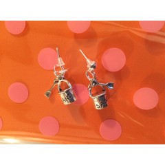 Sand bucket and spade stud earrings super cute christmas/ birthday gift