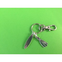 Surfboard and fin (flipper) keyring great christmas/ birthday gift