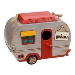 1950s vintage caravan polyresin birdhouse