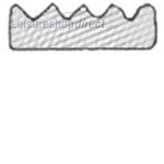 Self-adhesive backed expanded EPDM / sponge crown strip
