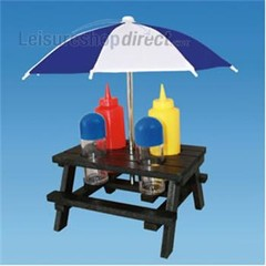 Novelty Condiment Picnic Table