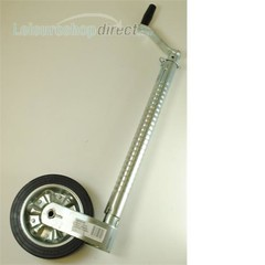 Super Heavy Duty Telescopic Ribbed Caravan Jockey Wheel 48mm