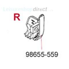 Fiamma Pelmet RH End CapTtitanium for F45 S