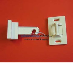 Surecatch Hook Latch Door Retainer - White