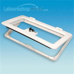 Door and Frame for Battery Box or Locker - white