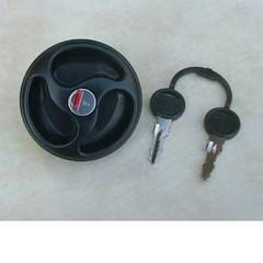Water filler cap with 2 keys, black