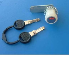 Compartment lock, barrel shaped - white