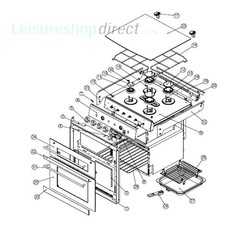 Spinflo Mk3 SOH72000 Series 4 Burner Hob and Oven Spare Parts