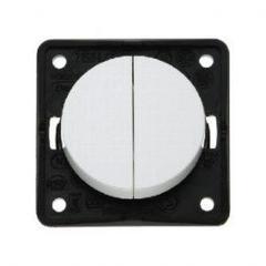 Berker 12v/230v twin rocker switch -white