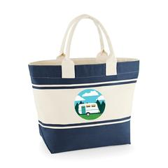 Canvas Deck Bag - Blue - Caravan Holidays