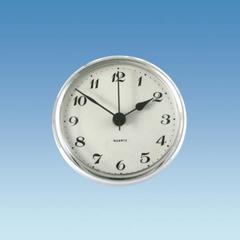 Chrome Bezel Caravan Clock