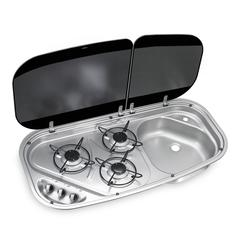 Dometic HSG3436 - 3 Burner Hob and Sink