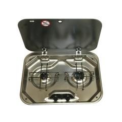 Dometic Smev PI8022 2- Burner Gas Hob with Glass Lid