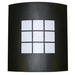 Exterior Wall Light, black plastic
