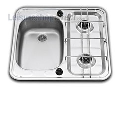 Dometic SMEV MO927 2-Burner Caravan Hob/Sink Combination Left Hand