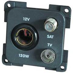 CBE 12V + TV + Satellite Socket