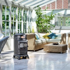 Provence Gas Heater Matt black - Portable