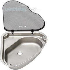 Spinflo Triangular Caravan Sink with Lid R/H