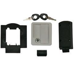 Rectangular Locker Door Lock - white