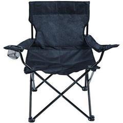 Royal Black Compact Chair with Arms