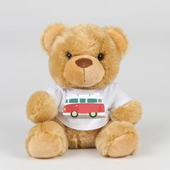 Teddy bear in TShirt with Red Campervan