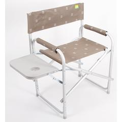 Via Mondo Aluminium Directors Chair with table (Brown)