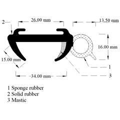 Window Rubber rubber 35mm