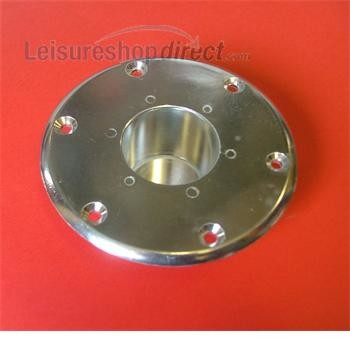 Recessed Base - Silver for Island Table Leg System