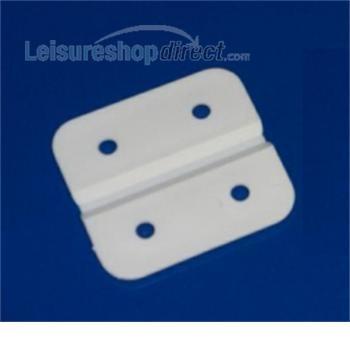 Plastic Hinge - White
