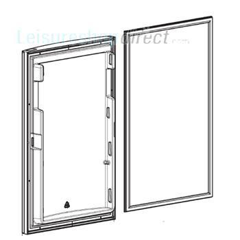 Dometic Door Complete 758x486m