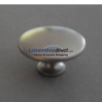 Knob Matt Nickle Effect 23mm - Zinc Alloy