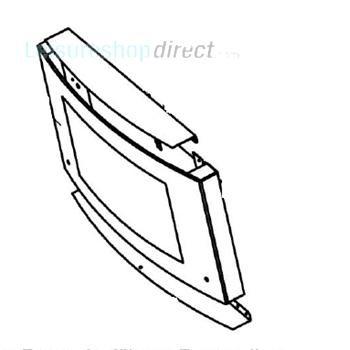 Dometic Door Glass with Hinge Guide -