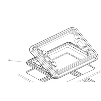 Dometic Heki 1 exterior frame with vent