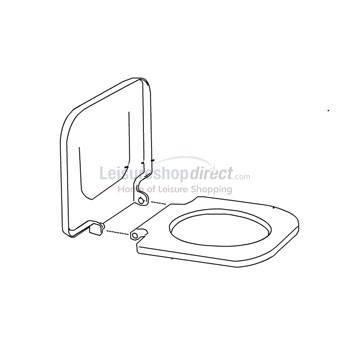 Fiamma Bi-Pot Seat and Lid - White