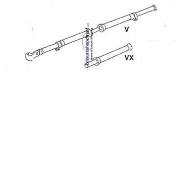 IXL - V-pole incl. VX G 19-22 for Ventura Standard Awnings