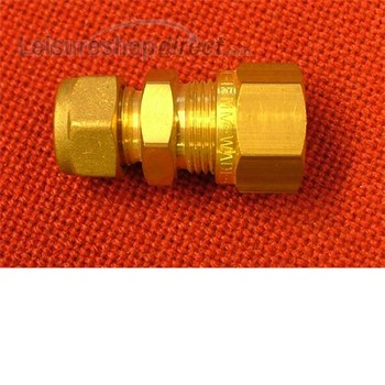 """Reducing straight coupler 5/16"""" x 1/4"""" compression"""