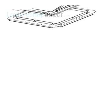 Mini-Heki Plus Mounting Frame for roof thickness 43-60 mm, Cream