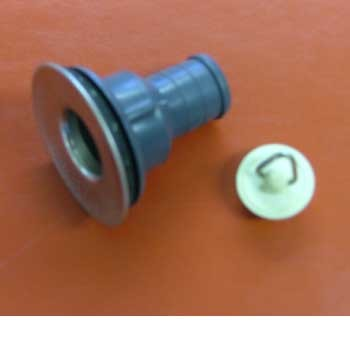 """Sink waste 3/4"""" straight stainless flange"""