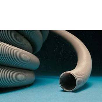 Waste hose convoluted 23.5mm dia. (Grey or black)