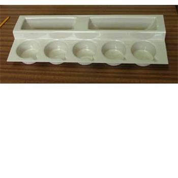 Stepped Cup & Plate Rack for Caravan/Motorhome - Ivory