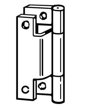 Hinge Cranked 50mm (Pair)