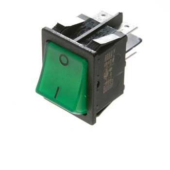 SWITCH 240 volt green face for Dometic and Electrolux Fridges