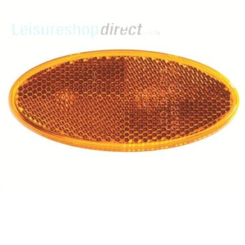 Oval reflector amber