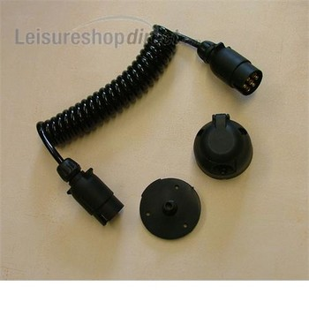 12N Coiled Cable with Two Plugs-