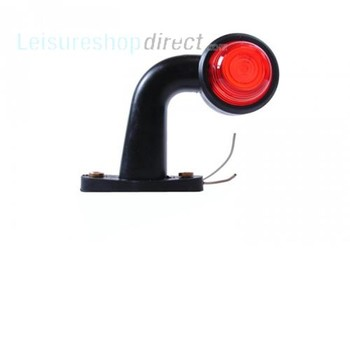 Red/White Low 90 Rubber Side Marker Light 12/24V