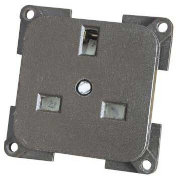 CBE 230V 3 Pin Socket - light grey