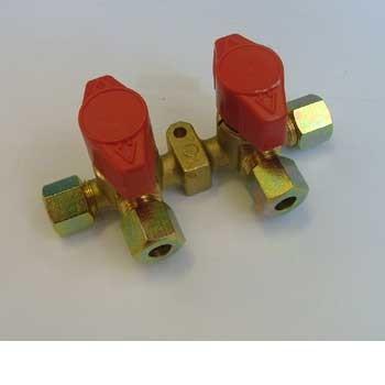 Truma 2 Tap Gas Manifold 8mm