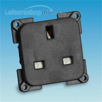 13 amp Socket - grey/black