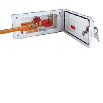 Reich Gas Supply Box, Lock and Valve - pure white