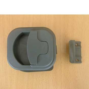 Cupboard catch grey